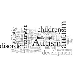 Autism is there a cure in sight vector