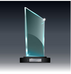Award glass trophy of on a vector