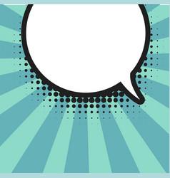 blank comic balloon template clear comics vector image