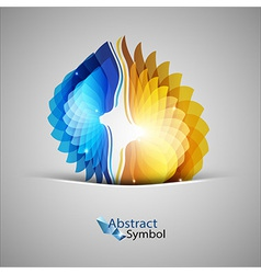 Blue And Orange Shapes vector