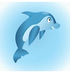 Blue dolphin vector