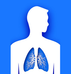 blue human lungs world health day medicine idea vector image