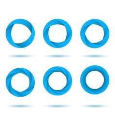 Blue segmented circles vector image