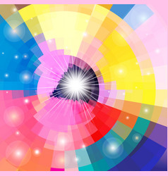 Bright multicolored gradient background vector