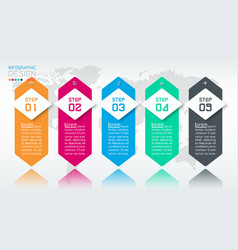 business infographic with 5 steps vector image