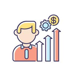 career development rgb color icon vector image