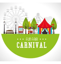 Carnival design over white background vector