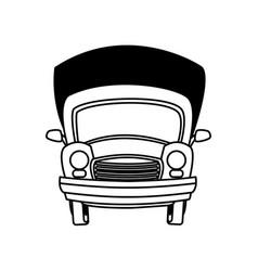 Cartoon car transport travel empty vector