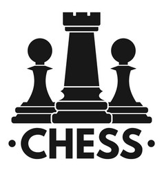 Chess play logo simple style vector