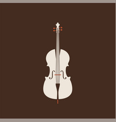 Classical cello icon isolated string ill vector