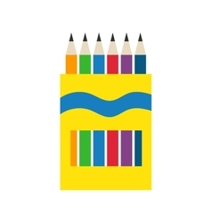 Colored engineering office pencils vector image