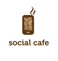 concept of smartphone with coffee bean vector image