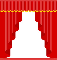 Curtains with lambrequins on the stage vector