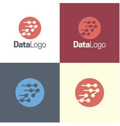 data logo and icon vector image