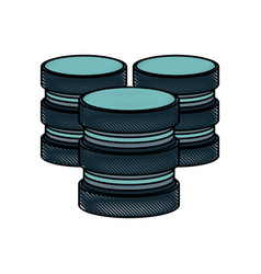databases data center icon image vector image