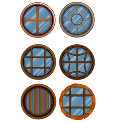 different design of round window vector image