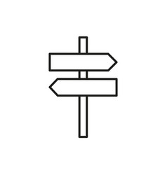 Direction sign thin line icon symbol design vector