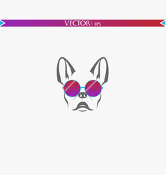 dog sunglasses logo vector image
