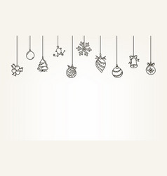 Doodling style christmas vector