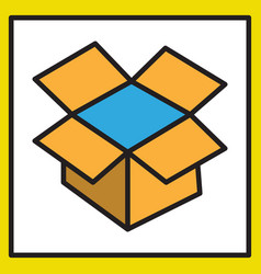 dropbox color icon realistic icon or logo vector image