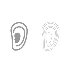 Ear set icon vector