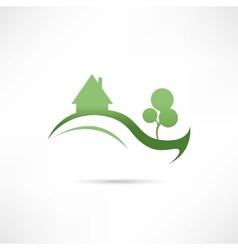Eco compani icon vector
