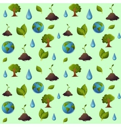 Eco pattern seamless vector image