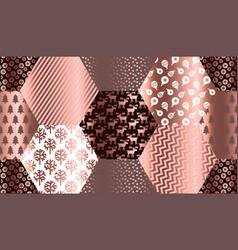 elegant luxury xmas seamless pattern vector image