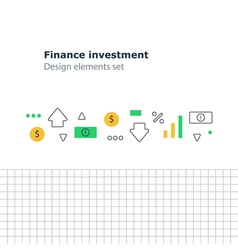 Finance investment concept earn money strategy vector