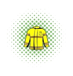Firefighter jacket icon comics style vector