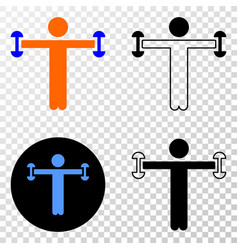 fitness person eps icon with contour vector image