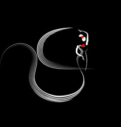 flamenco dancer beautiful logo woman icon isolated vector image