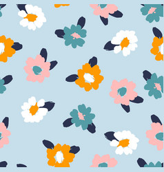 Floral abstract seamless pattern design vector
