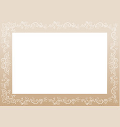 floral vintage decorative frame vector image