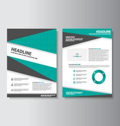 Green Black brochure flyer leaflet templates set vector