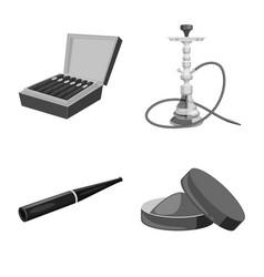 Health and nicotine logo vector