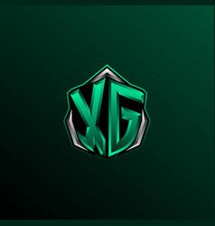 initial xg logo design initial xg logo design vector image