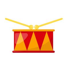 kid toy drum vector image