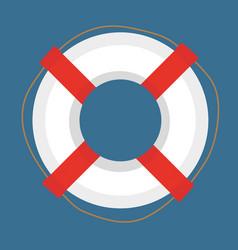 Lifebuoy icon flat cartoon style isolated on vector