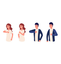 like or dislike thumb up yes or no isolated man vector image