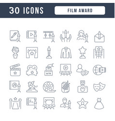 line icons film award vector image