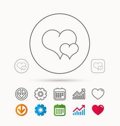 Love heart icon couple romantic sign vector