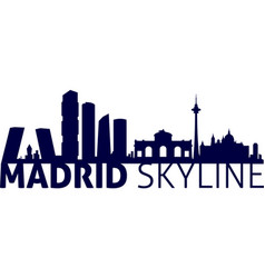 Madrid - spain city skyline silhouette laser cut vector