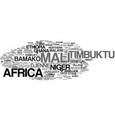 mali word cloud concept vector image