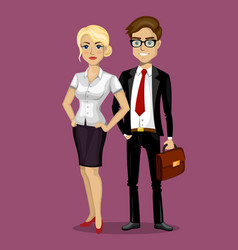 man and woman in business style vector image