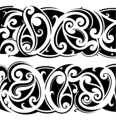 Maori tattoo set vector image