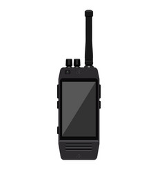 modern portable handheld radio icon with large vector image