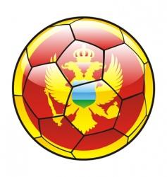 montenegro flag on soccer ball vector image