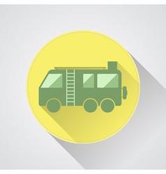 Motorhome camper van icon flat design vector