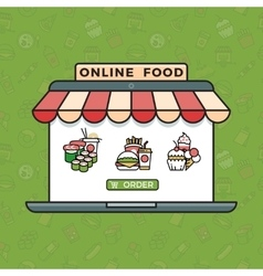 Online food ordering grocery shopping vector image